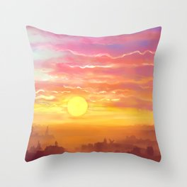 Under the sun Throw Pillow