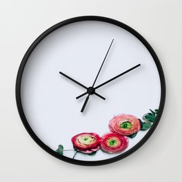 Floral Accents Wall Clock