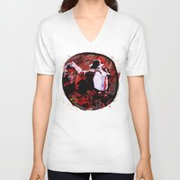 boxing V-neck T-shirts featuring Boxing MJ by Genco Demirer
