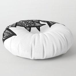 Triangle Henna Print- B+W Floor Pillow