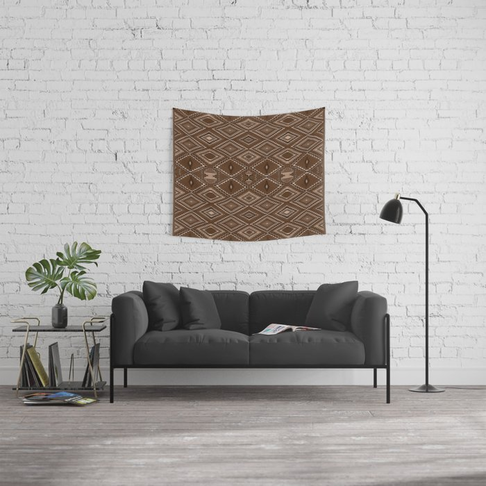 Abstract Repeating Pattern Based on Navajo Weaving Designs Wall Tapestry