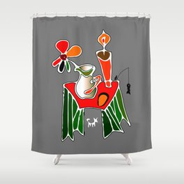 Wrong Picture Shower Curtain
