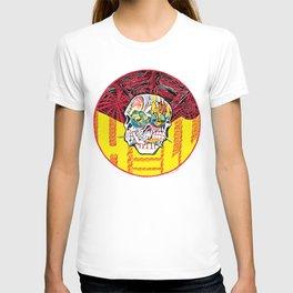 DEEP HELL TRI SKULL T-shirt