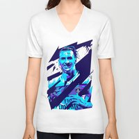 zlatan V-neck T-shirts featuring Zlatan Ibrahimović : Football Illustrations by mergedvisible