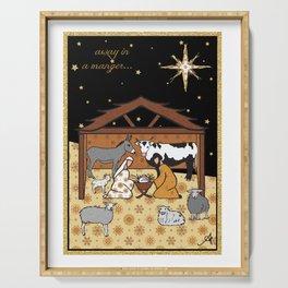 Christmas Nativity - Stable Amanya Design Serving Tray