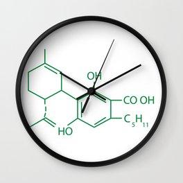 Cannabis Chemistry: CBD Wall Clock