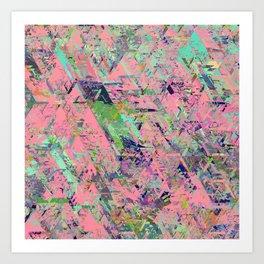 Mirror City Pink Art Print