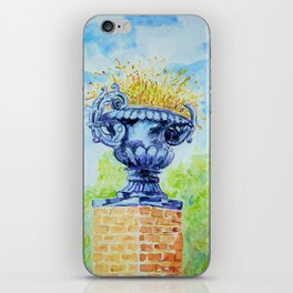 Garden Urn on Pillar of Bricks iPhone Skin