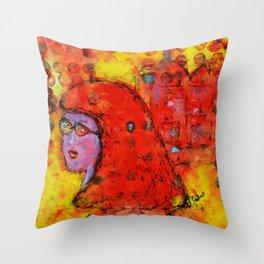 Red Hot Summer Girl Throw Pillow