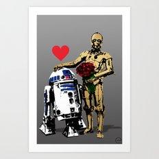 Secret Lovers Art Print