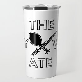 The Boy Who Ate - Wand and Chicken Crest Travel Mug