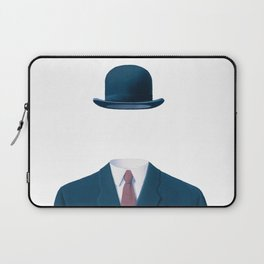 Man In a Bowler Hat by Rene Magritte, Artwork For Prints, Posters, Tshirts, Bags, Men Women, Kids Laptop Sleeve
