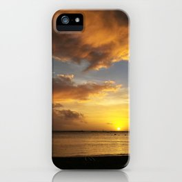 The Magic Minute when the Sun Dips the Water iPhone Case