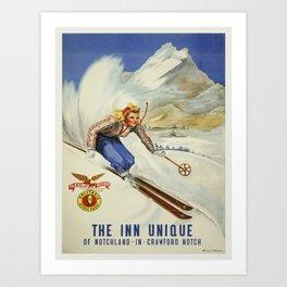 Vintage poster - Crawford Notch, New Hampshire Art Print