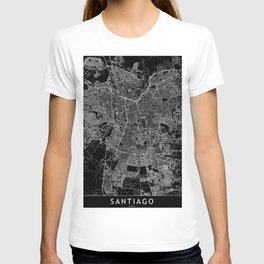 Santiago Black Map T-shirt