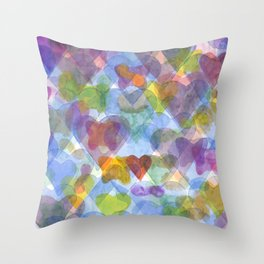 Having butterflies in one's stomach Throw Pillow