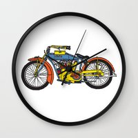 indian Wall Clocks featuring Indian by Superlust