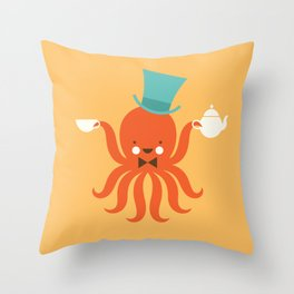 Animal Alphabet - Octopus Throw Pillow