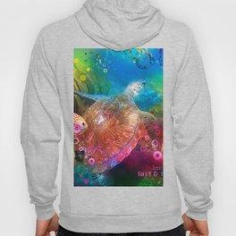 Sea Turtle In Living Color Hoody