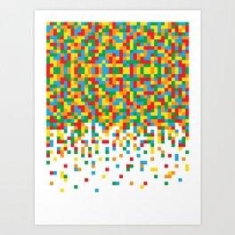 Pixel Chaos Art Print