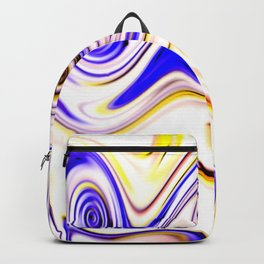 Waves and swirls, abstract, patterns piece no 15 Backpack