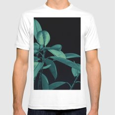 Rubber plant MEDIUM White Mens Fitted Tee