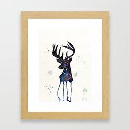 Spirit Nebula Stag Framed Art Print