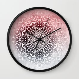 HYGGE WINTER VIBES MANDALA Wall Clock