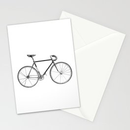 bicycle - portrait Stationery Cards