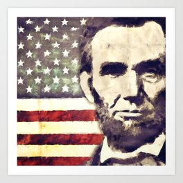Patriot President Abraham Lincoln Art Print