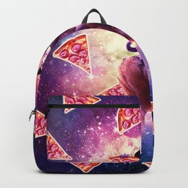 Cowboy Space Cat On Wolf Unicorn - Pizza Backpack