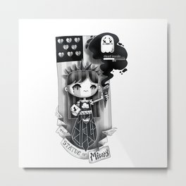 Lady Misery Metal Print
