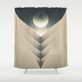 Expected Downfall Shower Curtain