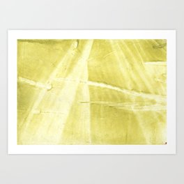 Yellow green abstract Art Print