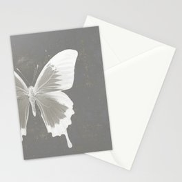 Butterfly on grunge surface Stationery Cards