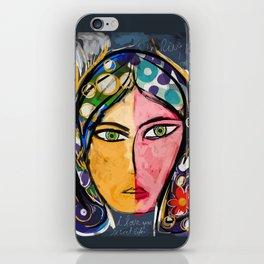 Portrait of a mystique girl iPhone Skin