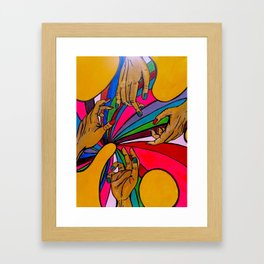 Your Hands Look Like My Hands Framed Art Print