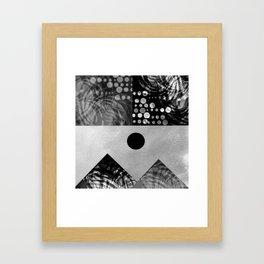 Black and white landscape Framed Art Print