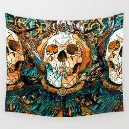 Old Skull Wall Tapestry