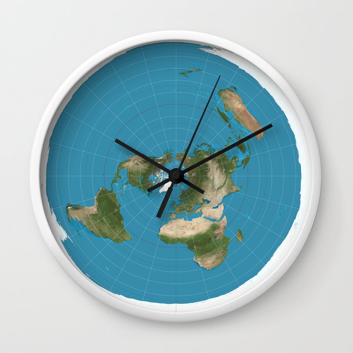 Official Flat Earth Map.Flat Earth Map Wall Clock By Jacklarson Society6