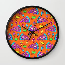 Crazy space alien pizza attack! #2 Wall Clock