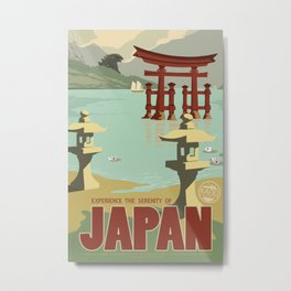 Kaiju Travel Poster Metal Print