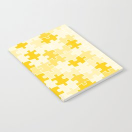 Yellow Jigsaw Puzzle Notebook