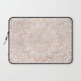 Mandala - rose gold and white marble 3 Laptop Sleeve