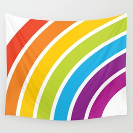 A Rainbow World Wall Tapestry