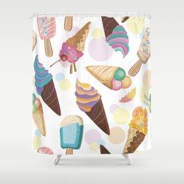 Ice Cream Everywhere Shower Curtain
