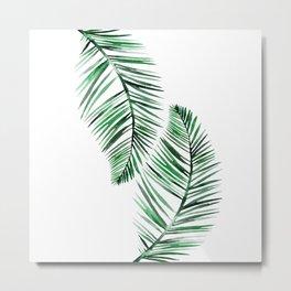 Tropical Exotic Palm Leaves Metal Print