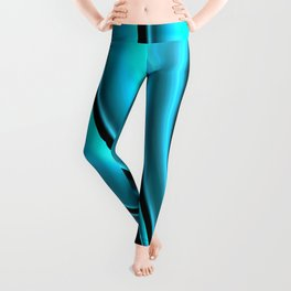 Abstract Fractal Colorways 02 Pacific Blue Leggings