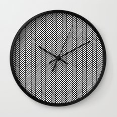 Herringbone Black Wall Clock