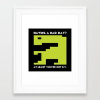 video game Framed Art Prints featuring Worst Video Game Ever by Silvio Ledbetter
